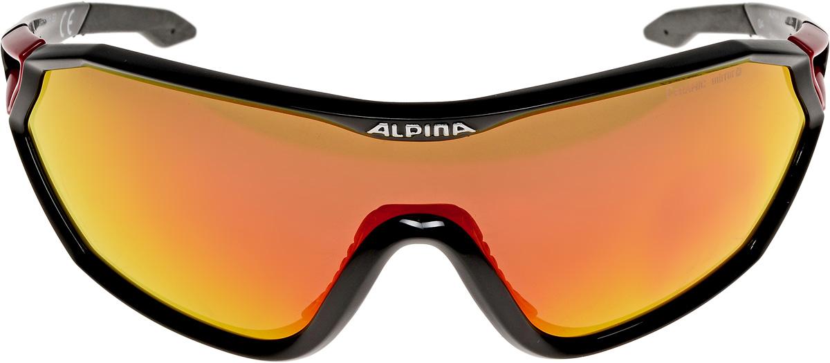 Велосипедные очки Alpina Alpina S-Way Cm+, цвет оправы: черный, красный