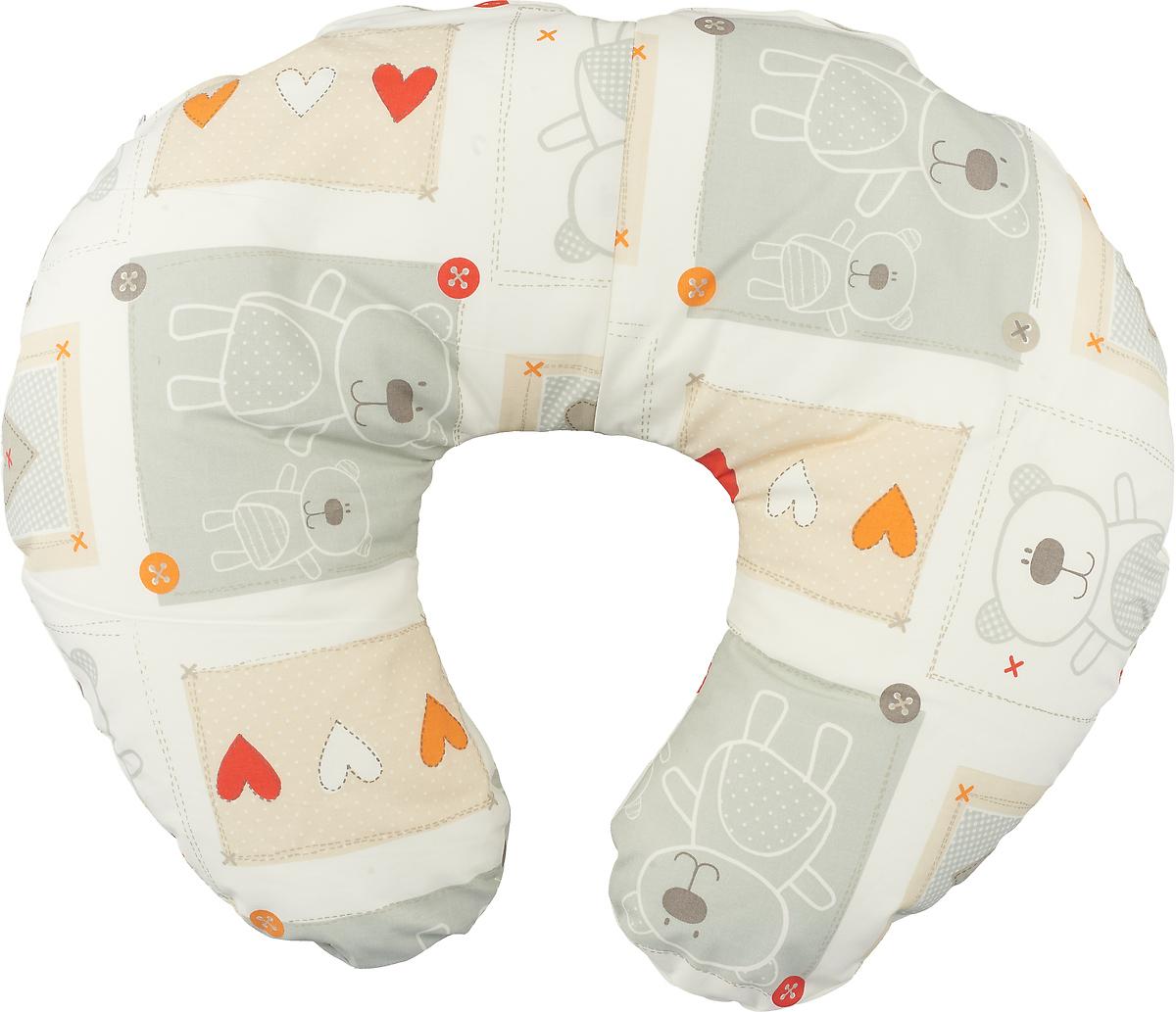 Plantex Подушка для кормящих и беременных мам Comfy Small Мишки с сердечками