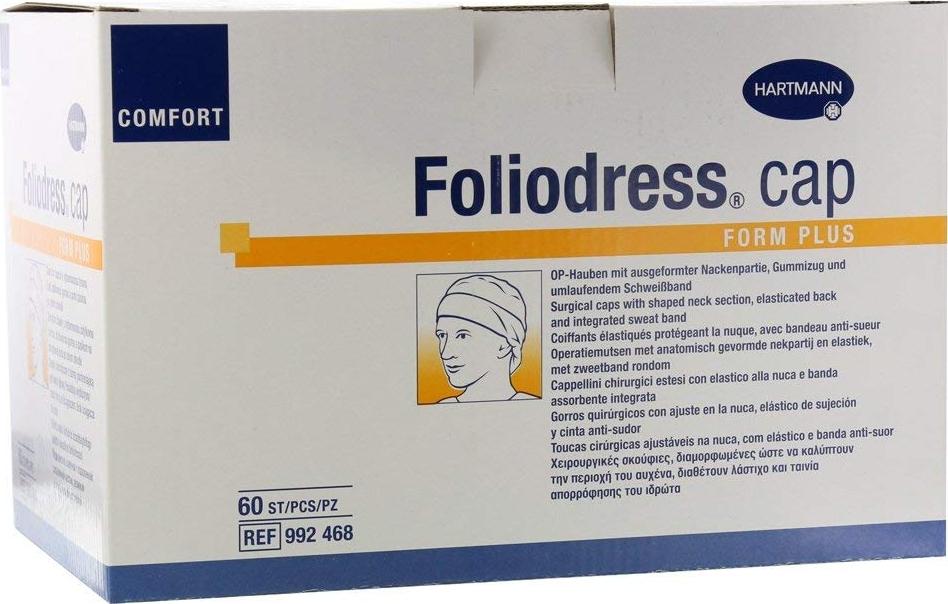 Foliodress Сap Comfort Form Plus Шапочка медицинская, 60 шт