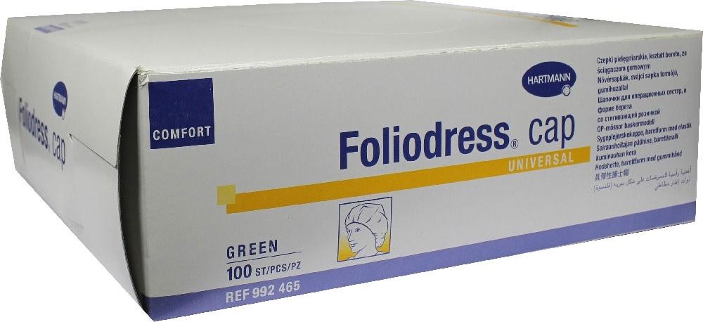 Foliodress Сap Comfort Universal Шапочка медицинская цвет: зеленый, 100 шт