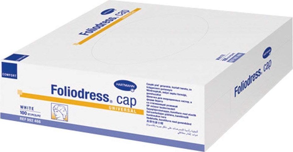Foliodress Сap Comfort Universal Шапочка медицинская цвет: белый, 100 шт