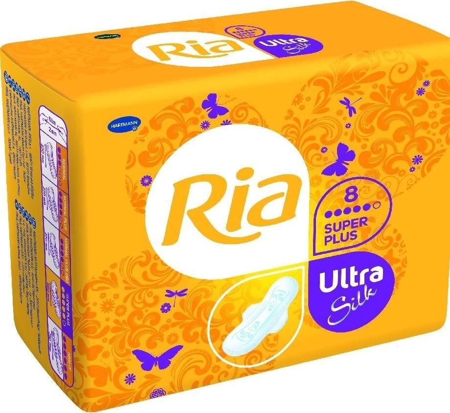 Ria Ultra Silk Super Plus Гигиенические женские прокладки, 8 шт
