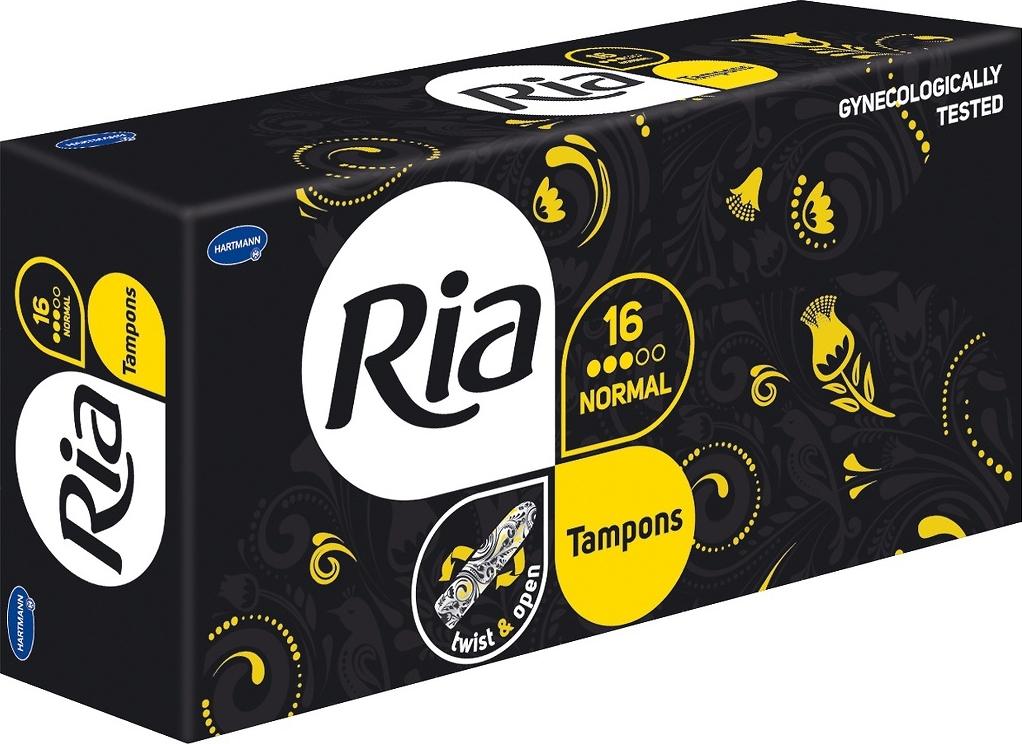 Ria Tampons Женские гигиенические тампоны, Нормал, 16 шт цены