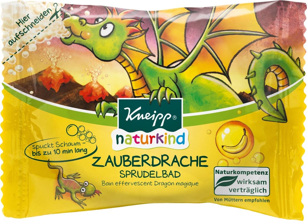 Kneipp Таблетка шипучая для ванн Волшебный Дракон с ароматом банана