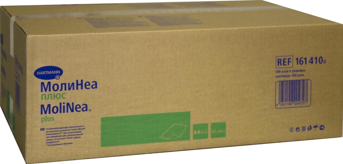MoliNea Plus Впитывающие пеленки, 60 х 60 см, 100 шт