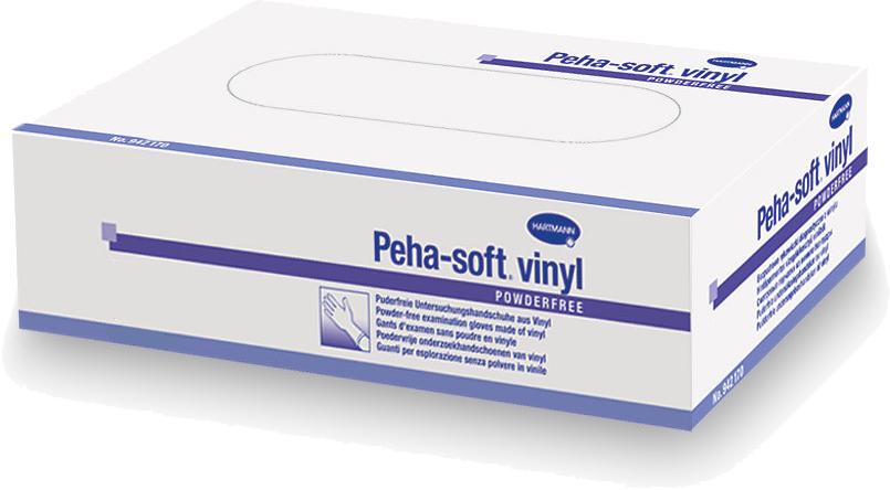 Peha-Soft Vinyl Перчатки медицинские, большие, 100 шт