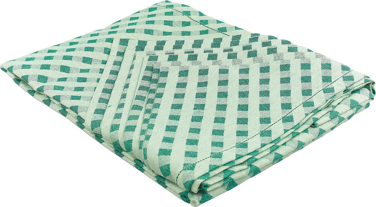 Комплект столового белья Гаврилов-Ямский Лен, цвет: зеленый, 7 предметов