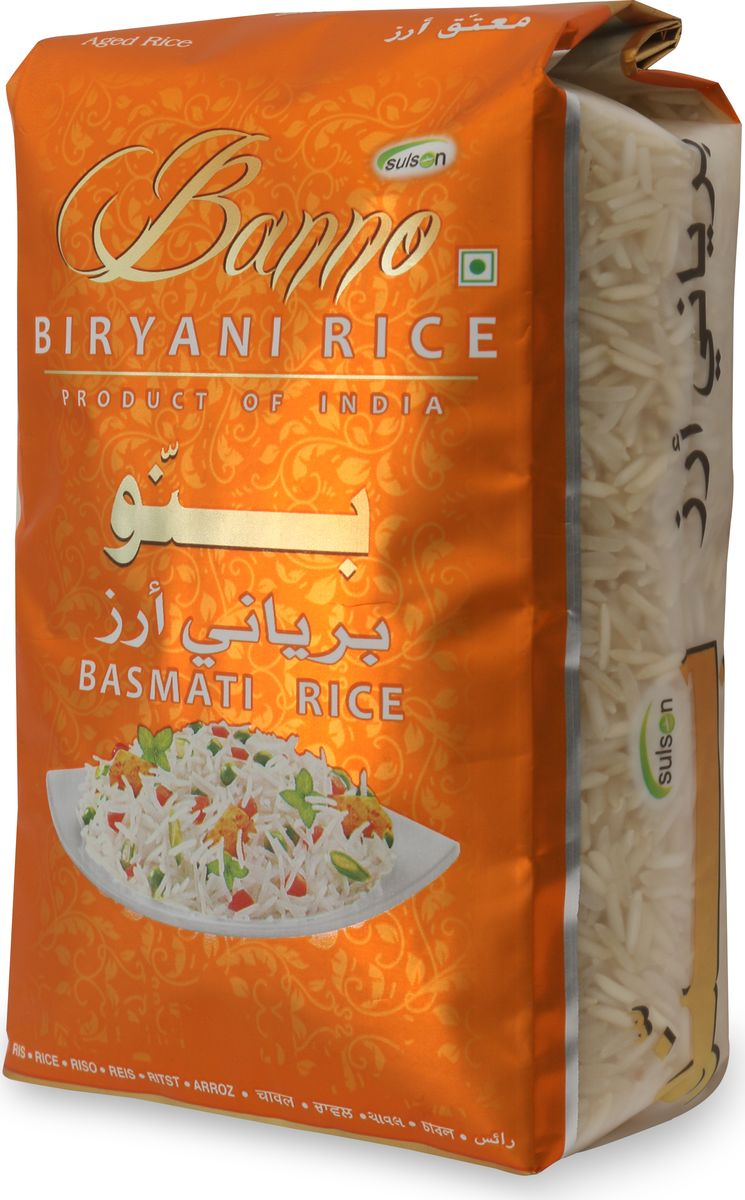 Banno Biryani басмати рис обработанный паром, 500 г ufeelgood rice organic brown basmati коричневый органический рис басмати 300 г