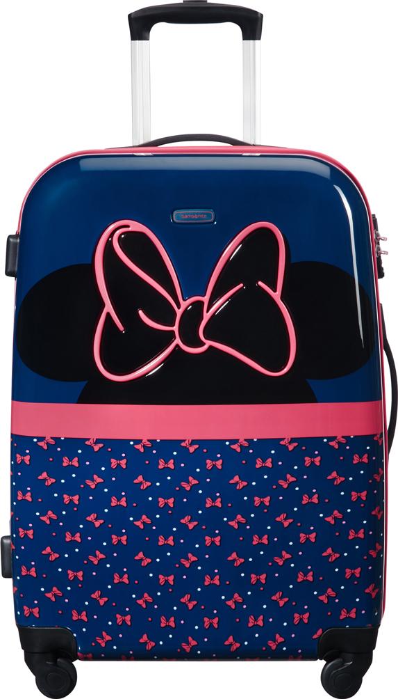 Чемодан четырехколесный Samsonite Disney. Минни неон, 55,5 л чемодан samsonite uplite цвет красный 38 5 л 99d 00005
