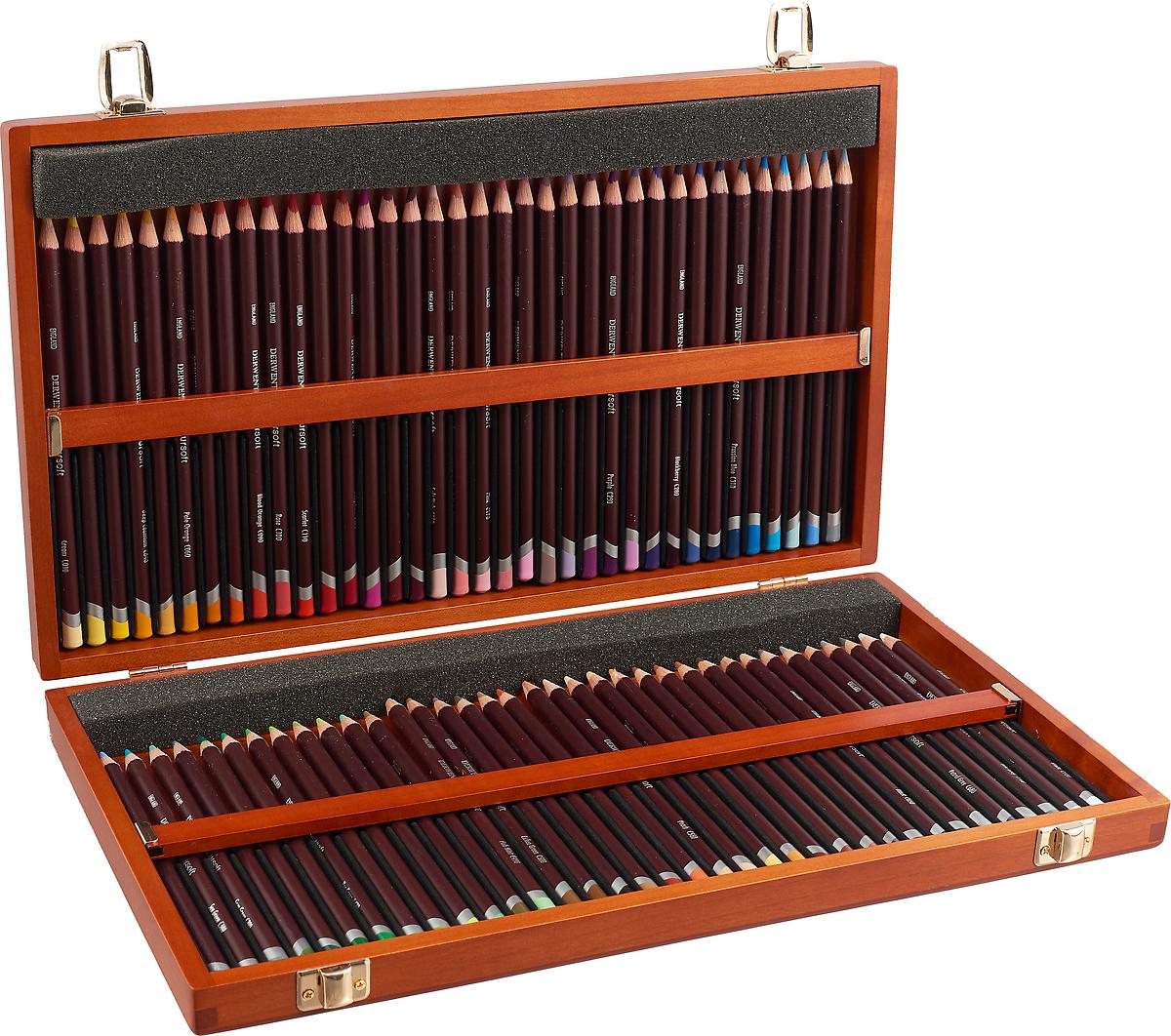 Derwent Набор цветных карандашей Coloursoft 72 цвета 0701031 цена