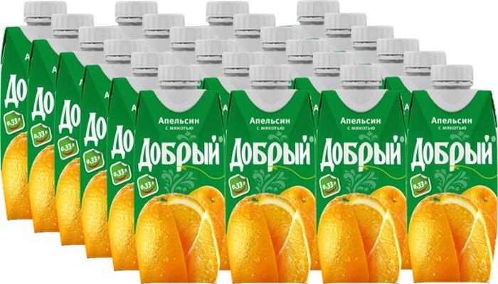 Добрый Апельсиновый нектар 24 штуки по 0,33 л добрый апельсиновый нектар 24 штуки по 0 33 л