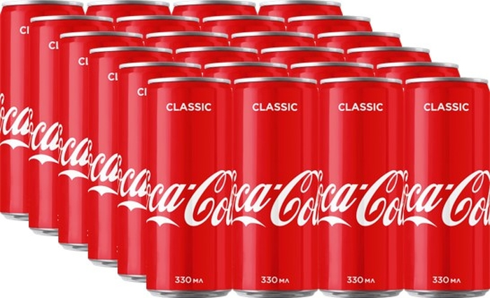 Coca-Cola напиток сильногазированный 24 штуки по 0,33 л coca cola напиток газированный 355 мл