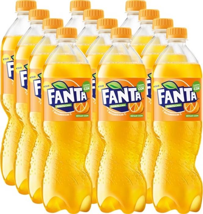 Fanta Апельсин напиток сильногазированный 12 штук по 1 л fanta груша напиток сильногазированный 1 5 л