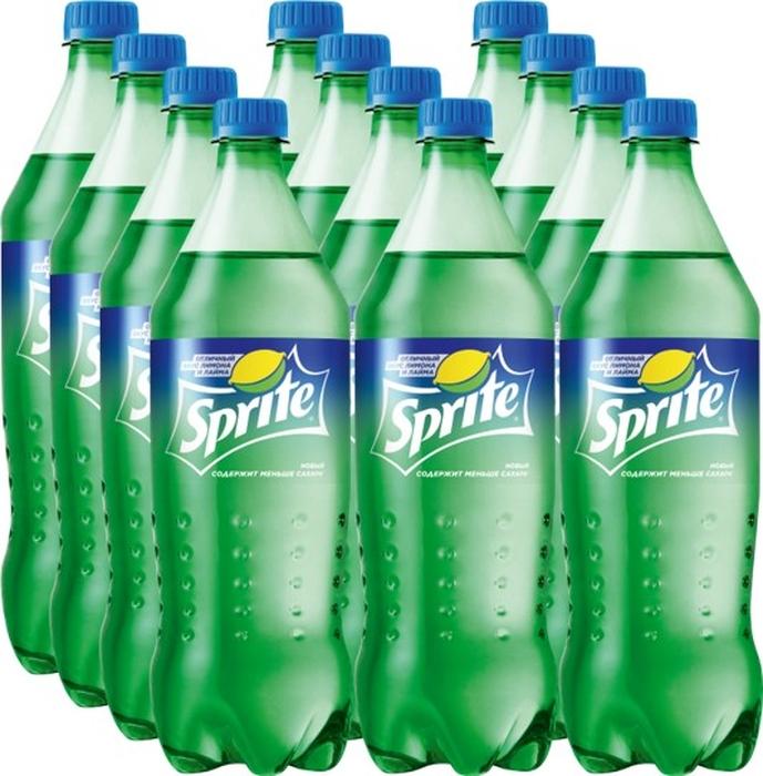 Sprite напиток сильногазированный 12 штук по 1 л экстра ситро напиток безалкогольный сильногазированный 2 л