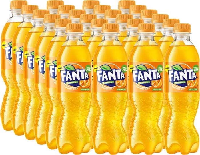 Fanta Апельсин напиток сильногазированный 24 штуки по 0,5 л pepsi напиток сильногазированный pepsi cola вайлд черри 0 6л пэт