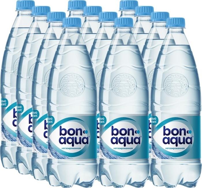 BonAqua вода чистая питьевая негазированная 12 штук по 1 л aqua minerale вода питьевая негазированная 6 штук по 2 л