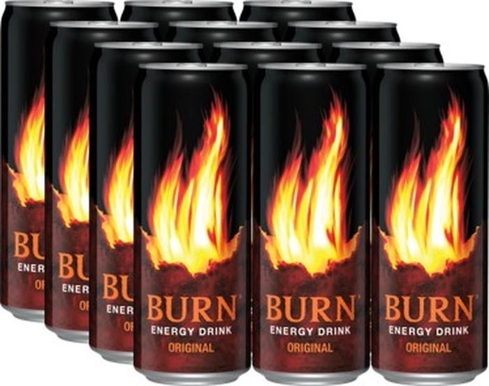 Burn Original энергетический напиток, 12 штук по 0,33 л xxi power энергетический напиток xxi power гуарана 500мл