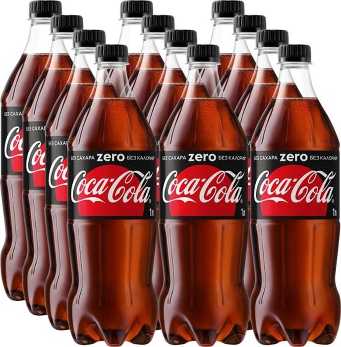 Coca-Cola Zero напиток сильногазированный 12 штук по 1 л бухта изобилия судак неразделанный с головой свежемороженый 1 кг