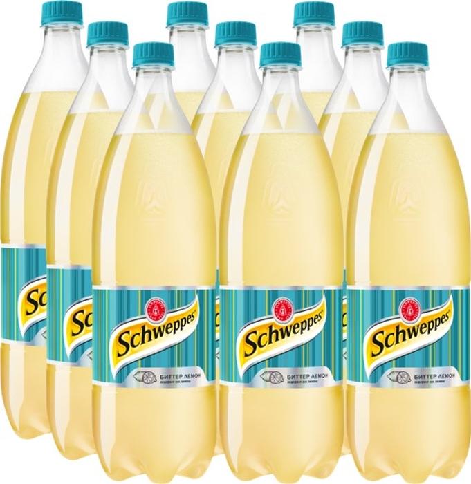 Schweppes Биттер Лемон напиток сильногазированный 9 штук по 1,5 л