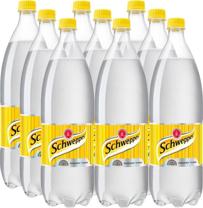 Schweppes Индиан Тоник напиток сильногазированный 9 штук по 1,5 л perrier напиток с ароматом лайма сильногазированный 0 25 л