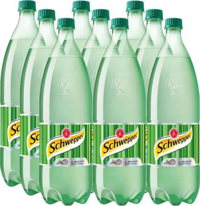 Schweppes Мохито напиток сильногазированный 9 штук по 1,5 л напиток fruktomania мохито 1 5 л