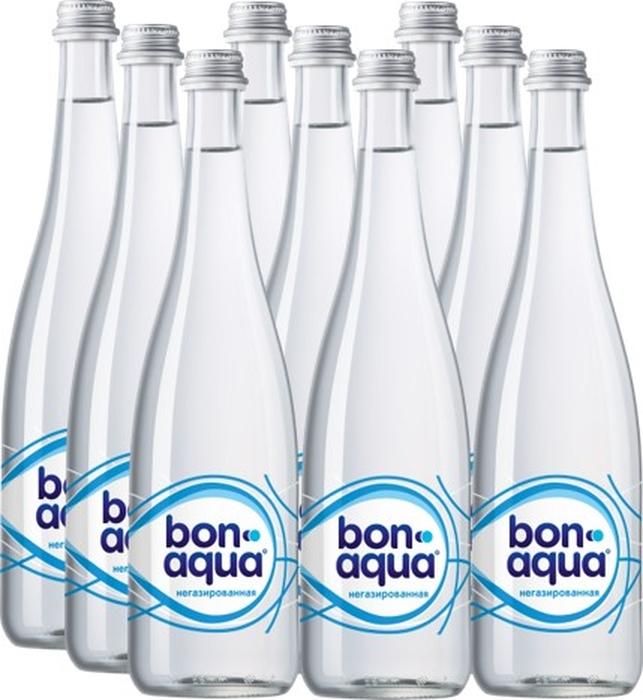 BonAqua вода чистая питьевая негазированная 9 штук по 0,75 л вода aqua minerale с газом 0 6 л