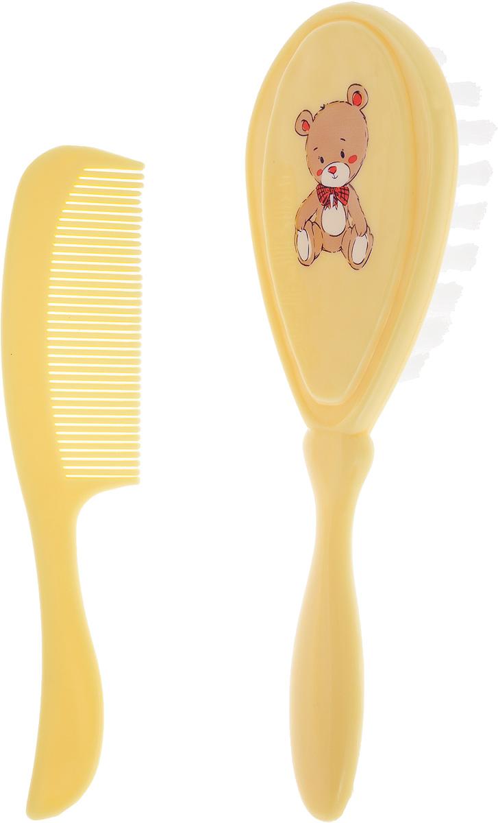 Курносики Набор Щетка и расческа для волос цвет слоновая кость babyono набор детский расческа и щетка для волос цвет светло коралловый