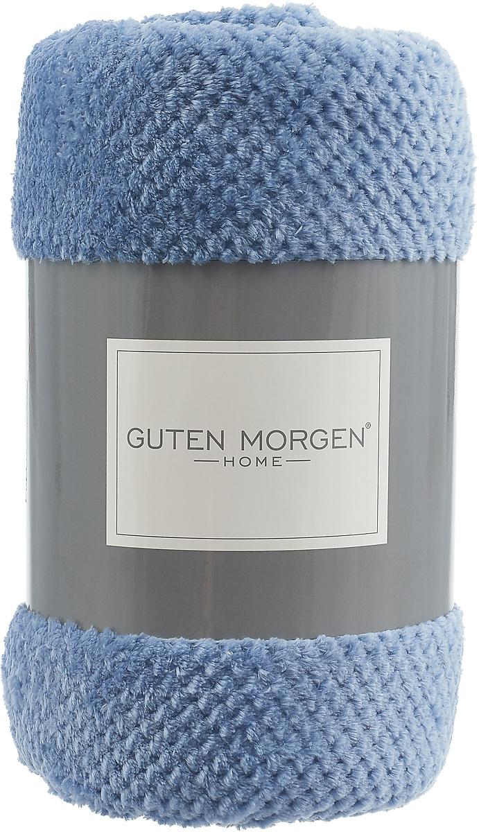 Плед-покрывало Guten Morgen Ривьера, цвет: синий, 150 х 200 см плед absolute цвет голубой 150 х 200 см 65695