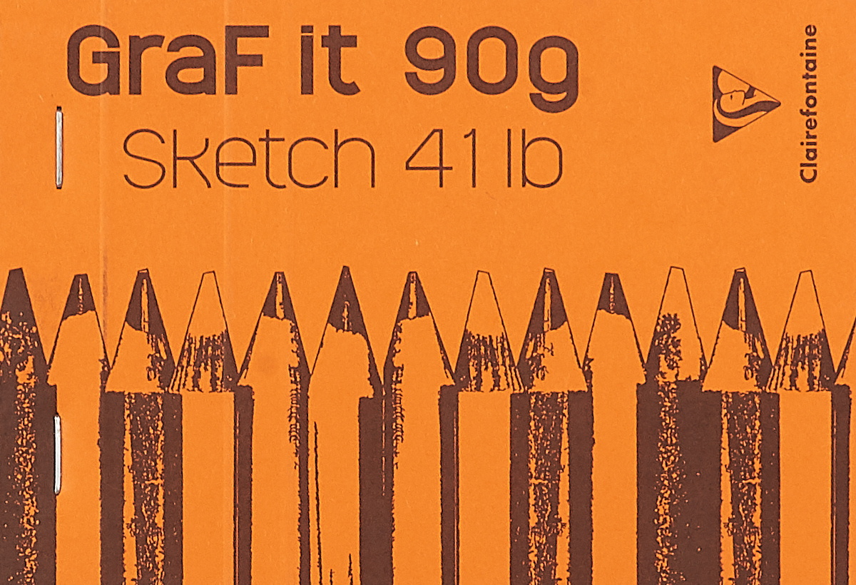 Блокнот Clairefontaine Graft It, на скобах, цвет: оранжевый, 80 листов цвет: оранжевый вид2 oiwas оранжевый цвет1