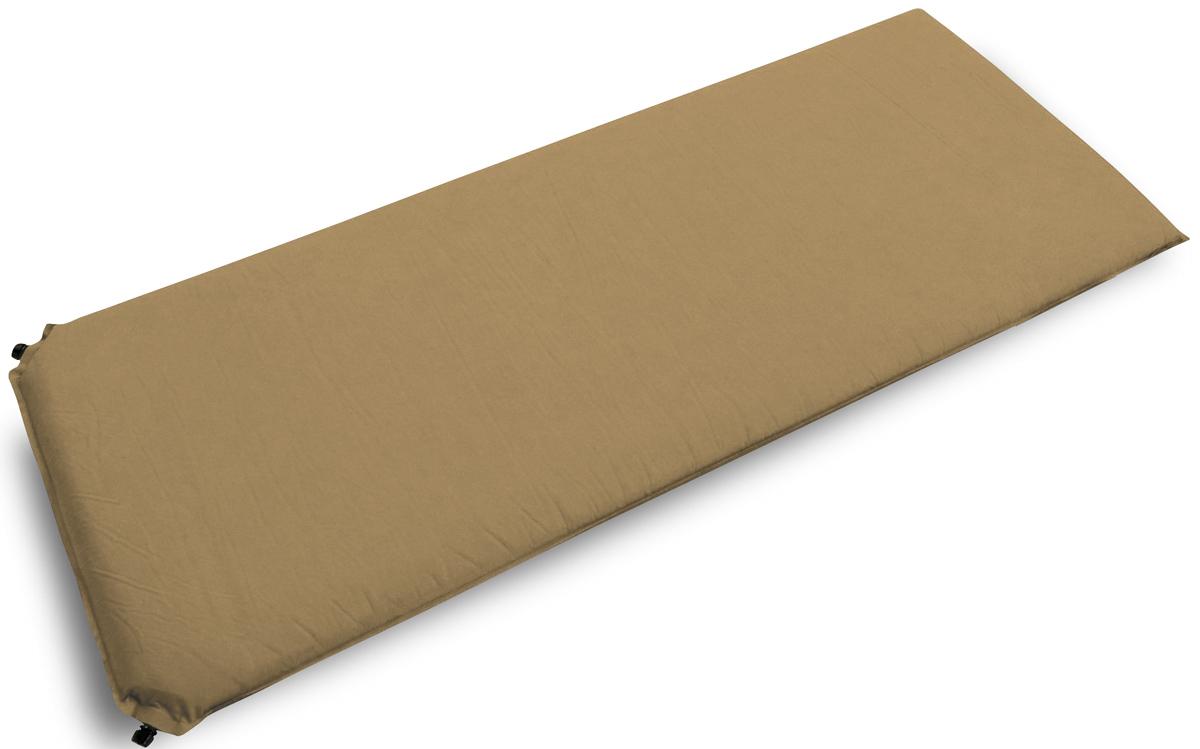 Коврик самонадувающийся Talberg Best Mat, цвет: бежевый, черный, 190 х 77 см коврик самонадувающийся talberg forest light mat цвет зеленый коричневый черный 183 х 51 см