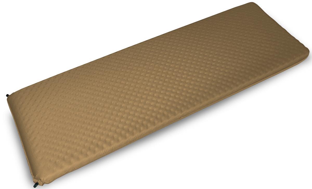 Коврик самонадувающийся Talberg Big Mat, цвет: бежевый, черный, 190 х 66 см коврик самонадувающийся talberg forest light mat цвет зеленый коричневый черный 183 х 51 см