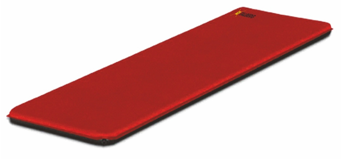 Коврик самонадувающийся Talberg Camping Mat, цвет: красный, черный, 198 х 70 см