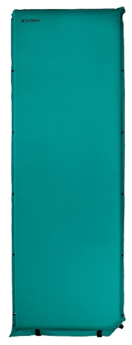 Коврик самонадувающийся Talberg Comfort Mat, цвет: зеленый, черный, 188 х 66 см коврик самонадувающийся talberg forest light mat цвет зеленый коричневый черный 183 х 51 см
