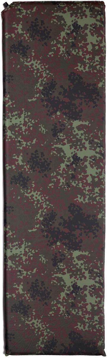 Коврик самонадувающийся Talberg Forest Light Mat, цвет: зеленый, коричневый, черный, 183 х 51 см коврик самонадувающийся trek planet active 38 цвет синий 183 х 51 х 3 8 см