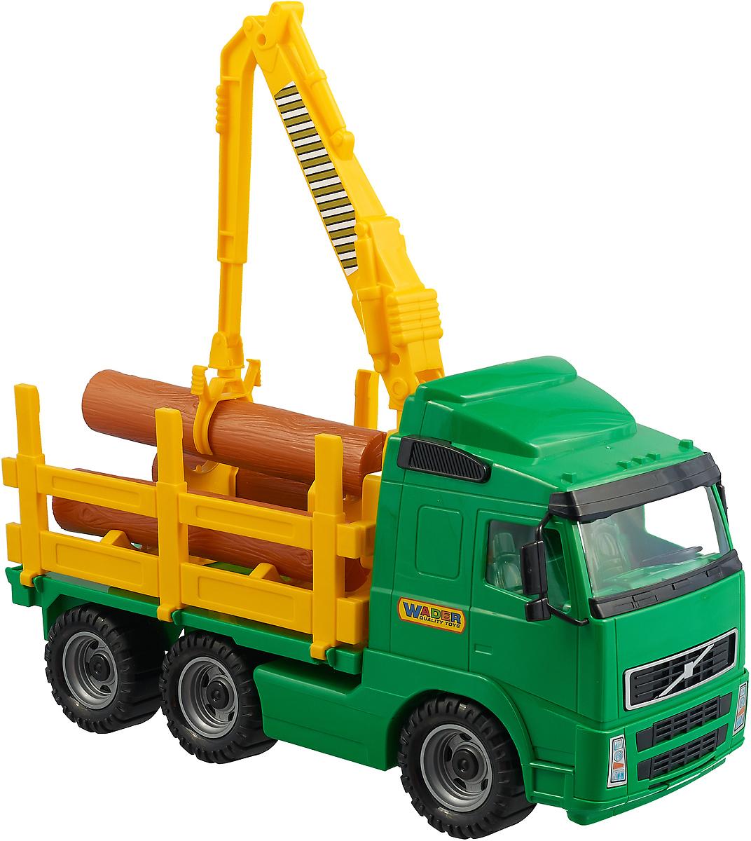 Полесье Лесовоз Volvo цвет зеленый желтый купальник cornette цвет желтый зеленый