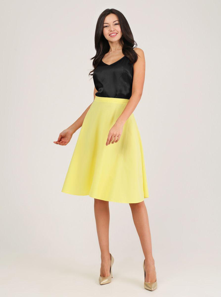 Юбка Tom Farr, цвет: желтый. TW7628.11804-1-coll. Размер S (44)