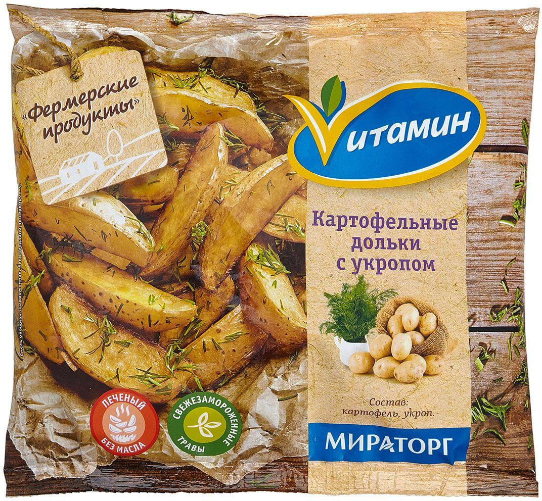 Картофельные дольки с укропом Vитамин, 400 г пудовъ деликатесный ржаной хлеб с укропом 500 г