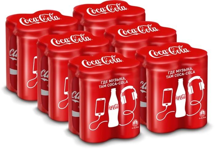 Coca-Cola напиток сильногазированный Мультипак 4 штуки по 0,33 л, 6 шт pepsi напиток сильногазированный pepsi cola вайлд черри 0 6л пэт