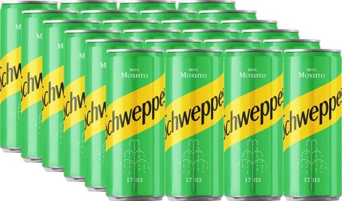 Schweppes Мохито напиток сильногазированный 24 штуки по 0,33 л мохито каталог одежды