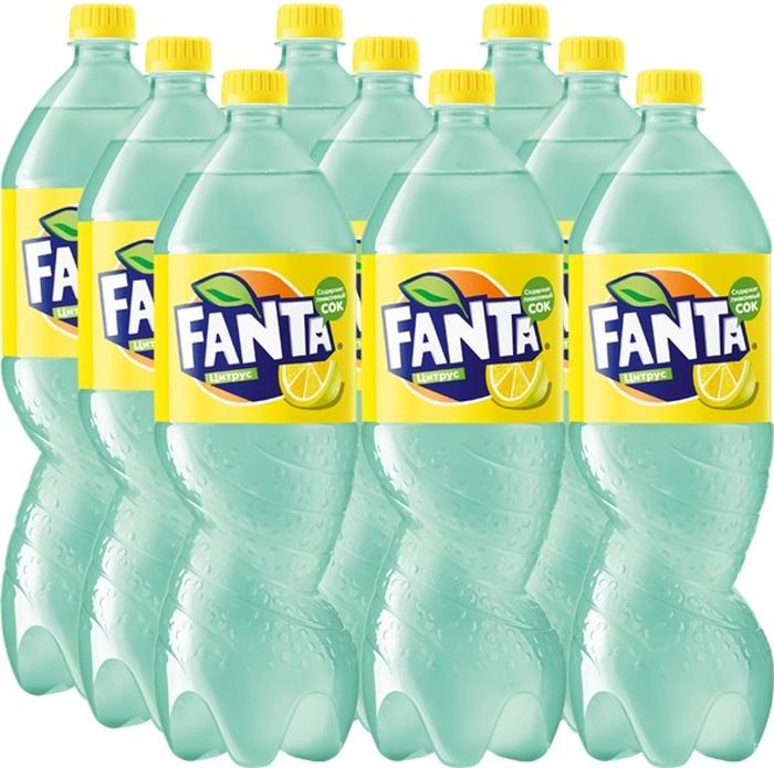 купить Fanta Цитрус напиток сильногазированный 9 штук по 1,5 л по цене 634 рублей