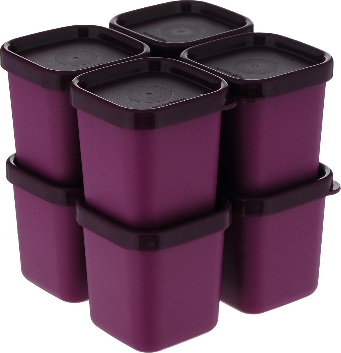 Набор контейнеров для СВЧ Tupperware МикроГурмэ 101, 80 мл, цвет: фуксия, 8 шт tupperware mini vacuum изоляция из нержавеющей стали 250 мл papaya orange