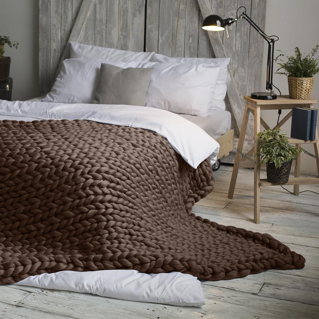 Плед Dome Hygge, цвет: шоколадный, 140 см х 200 см fit 10618