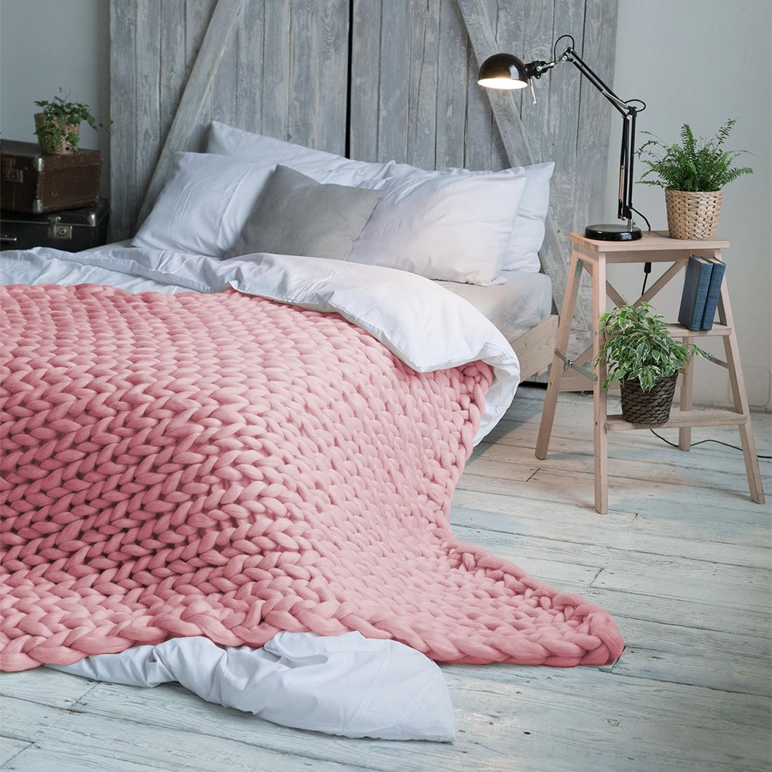 Плед Dome Hygge, цвет: светло-розовый, 140 см х 200 см покрывало на кресло les gobelins mexique 50 х 120 см