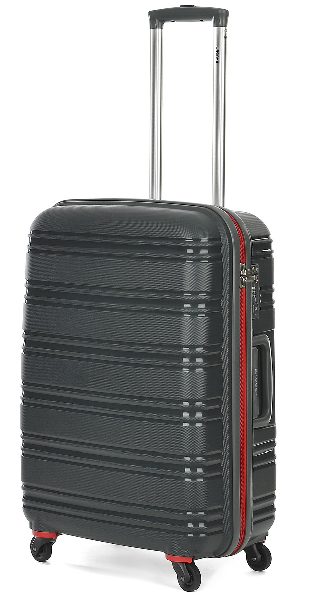 Чемодан Baudet, на колесах, цвет: темно-серый, 74 л. BHL0708808-62 чемодан samsonite orfeo цвет серебристо голубой 72 л cc4 25002