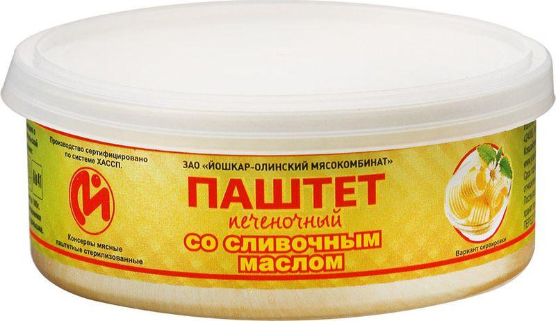 Йошкар-Олинская Тушенка паштет печеночный с маслом, 100 г паштет argeta куриный 95г