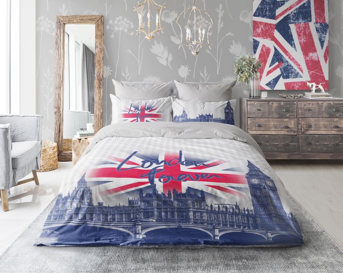 Комплект белья Love Me London, евро, наволочки 50х70, 70х70. 711085 постельное белье cotton life love you 70х70 см 1 5 спальное
