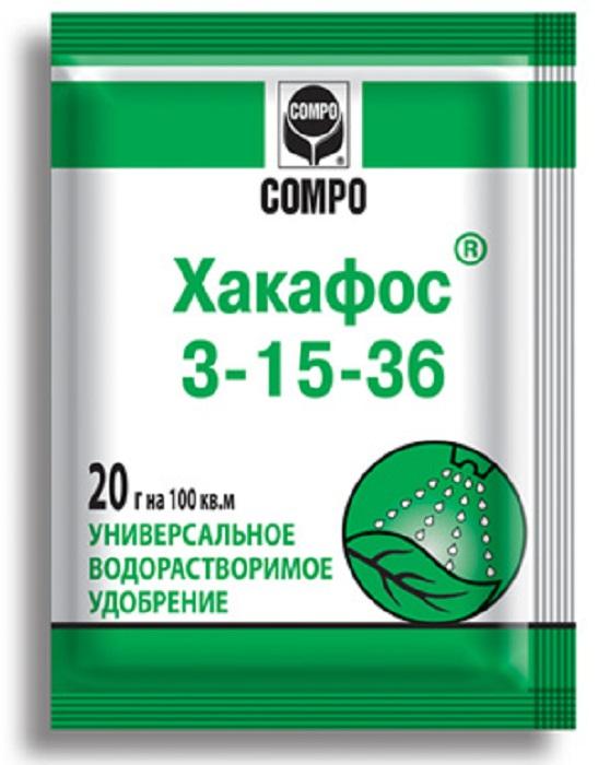 Удобрение Compo Хакафос, для плодообразований, 20 г удобрение агрикола палочки д цветущих растений