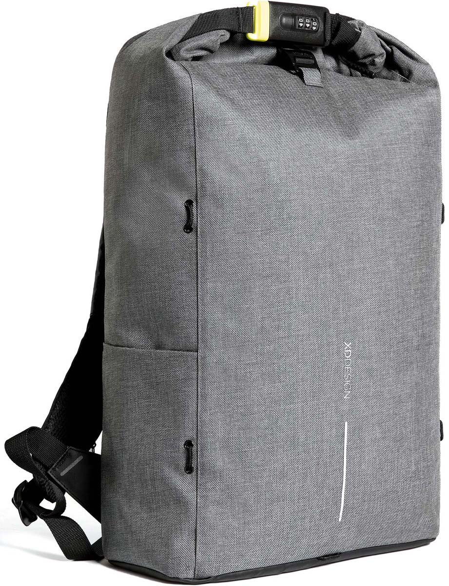 Рюкзак городской XD Design Bobby Urban Lite, для ноутбука до 15,6, цвет: серый, 27 л рюкзак xd design bobby compact для ноутбука 14 бирюзовый
