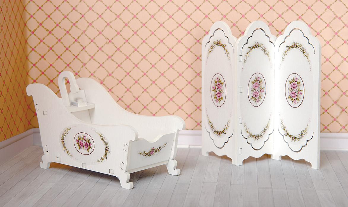 ЯиГрушка Набор мебели для кукол Ванная комната 2 предмета