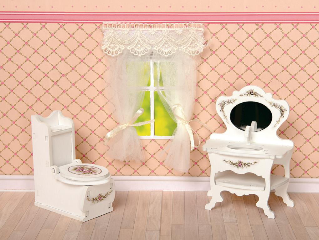 ЯиГрушка Набор мебели для кукол Туалетная комната 2 предмета кукольные домики и мебель яигрушка набор столовый буфет коллекция прованс